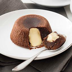 Soufflé con corazón de cremoso chocolate blanco Bindi 12Ud 100Gr