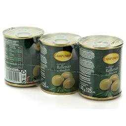 Aceitunas verdes rellenas de anchoa pack 3 latas