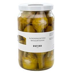 Alcachofas enteras confitadas en aceite de oliva