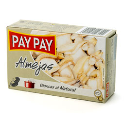 Almejas al natural gallegas Pay Pay 115Gr