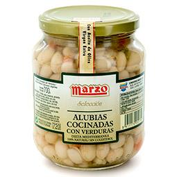 Alubias con verduras Marzo Rioja calidad