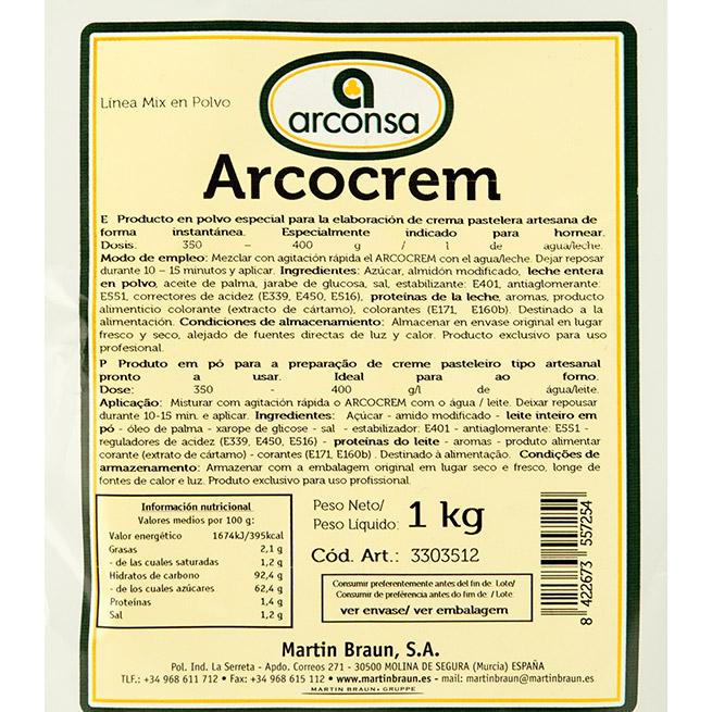 Arcocrem (Crema Pastelera) 1Kg