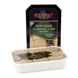 Atún rojo de Cadíz con algas en aceite