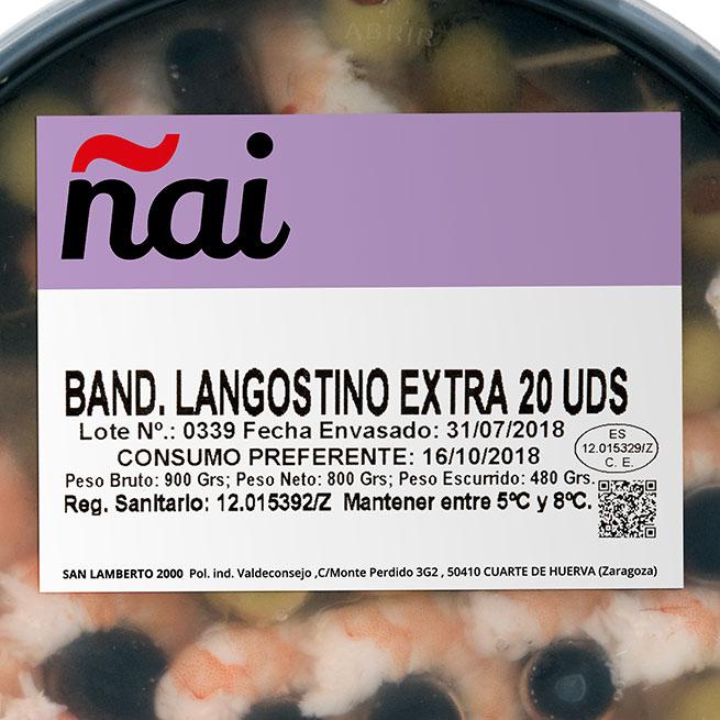 Banderilla de Langostino extra 20 Uds.