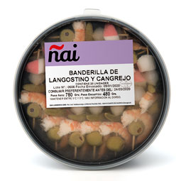 Banderilla de langostino y cangrejo 20Uds