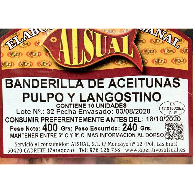 Banderilla de Pulpo y Langostino 10 uds.