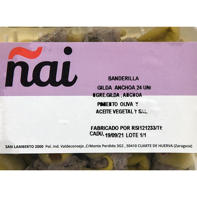 Banderilla gilda de anchoa 25 ud