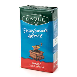 Cafe Molido Descafeinado Natural Baqué 250Gr