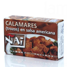 Calamar trozos 120Gr salsa americana Ñai