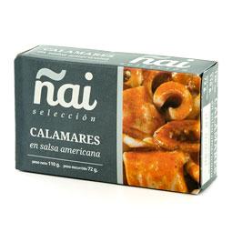 Calamar trozos salsa americana 120Gr Ñai Selección