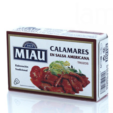 Calamares en salsa americana Miau 120Gr