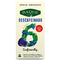 Capsula Café Descafeinado Baqué (Nespresso) 10Uds