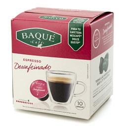Capsula Café Descafeinado Baqué (Dolce Gusto) 10Uds