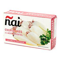 Chipirones en aceite vegetal lata