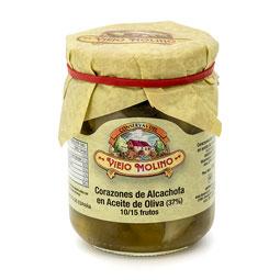 Corazones de alcachofa en aceite de oliva