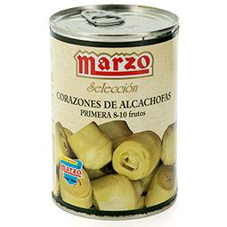 Corazones de alcachofa enteros lata