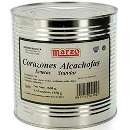 Corazones de alcachofa enteros