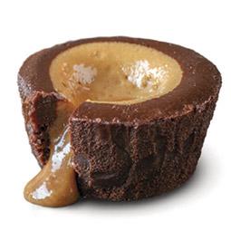 Coulant de chocolate con corazón de crema irlandesa 24Uds de 90Gr