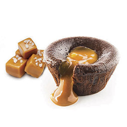 Coulant de chocolate con corazón de caramelo 24Uds de 90Gr