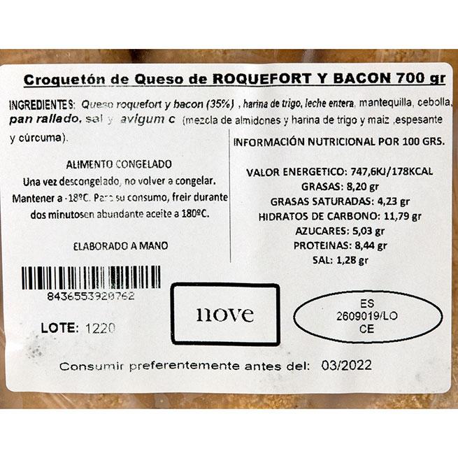 Croquetón de bacon y roquefort 70Gr 10 Uds