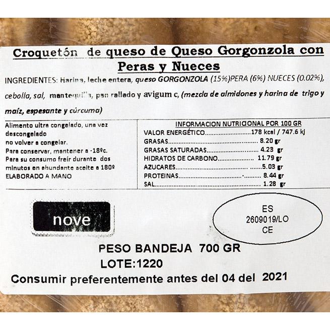 Croquetón de Gorgonzola y pera 70Gr 10 Uds