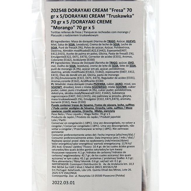 Dorayaki de fresa (5 Uds.)