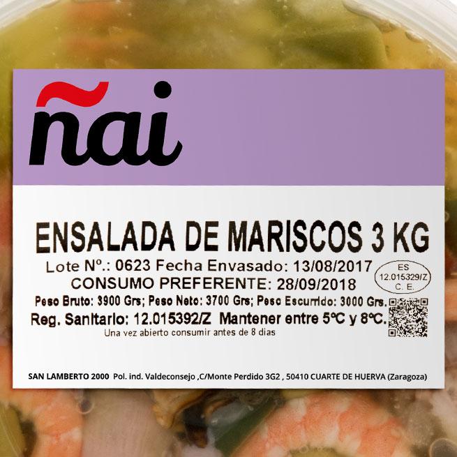 Ensalada de Marisco en aceite de oliva 4 Kg.