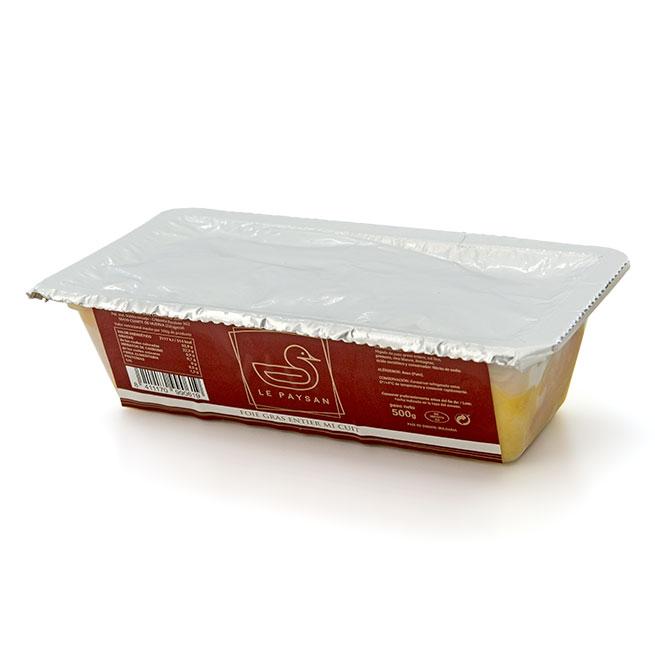 Entier de foie gras Mi-Cuit 500Gr