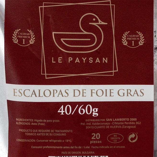Escalopas de Foie 40-60 Gr Premiun