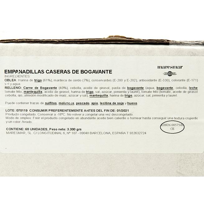 Exquisita empanadilla rellena de bogavante 50Gr 6Uds
