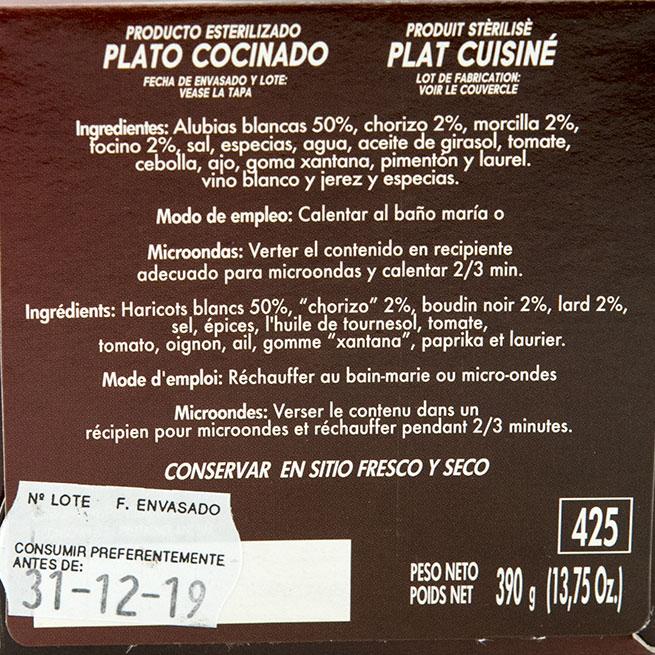 Fabada Asturiana 500Gr