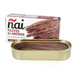 Filete anchoa en aceite de oliva Cantábrico 50Gr Ñai