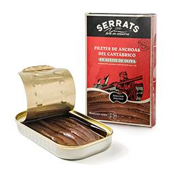Filete de anchoa del Cantabrico en aceite de oliva Serrats lata