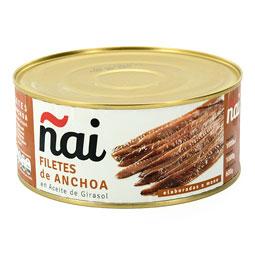 Filetes de anchoa en aceite de girasol