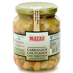 Garbanzos con verduras Marzo Rioja Calidad