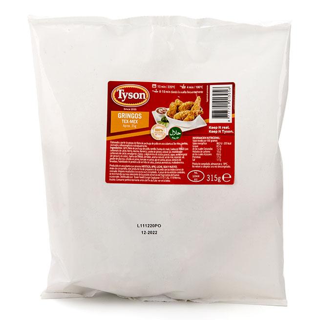 Gringos muslos de pollo tex mex bolsa