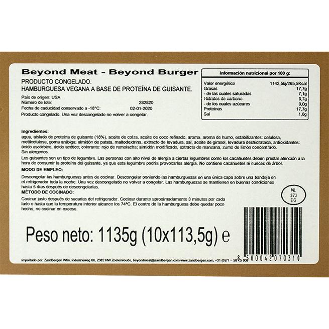 Hamburguesa beyond meat (Vegana) 10Ud de 113Gr