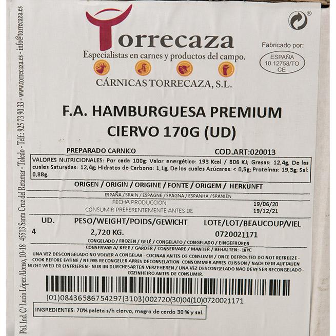 Hamburguesa de ciervo 170Gr x 4Uds