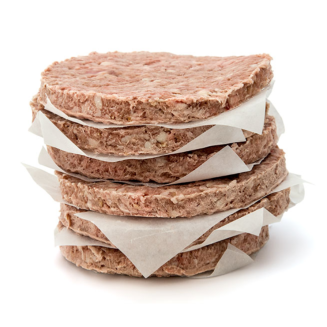 Hamburguesa premium 100% cerdo iberico 36 Ud x 140 Gr (diametro 10,5 Cm)