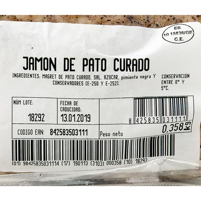 Jamón de Pato Curado Collverd