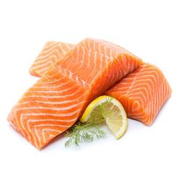 Lomitos de salmón Noruego sin piel 250Gr
