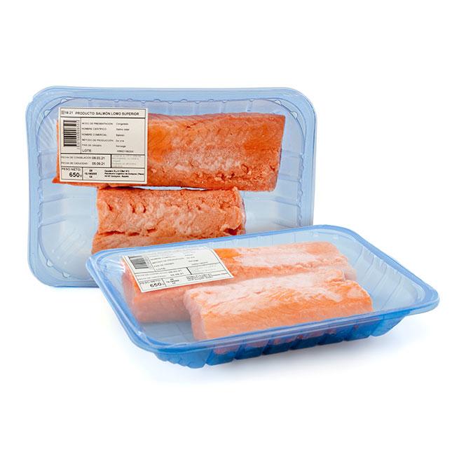 Lomos de salmón Noruego sin piel 400/650Gr aproximados