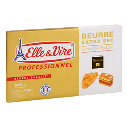 Mantequilla extra seca 84% MG 1Kg Elle  Vire