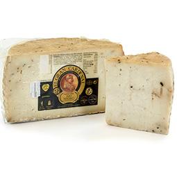 Medios quesos de leche de cabra y vaca con ajo negro Gran Cardenal