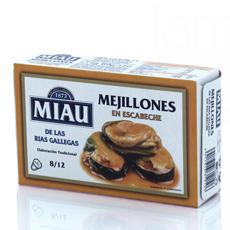 Mejillones en escabeche Gallegos 120Gr 8/12 pzs Miau