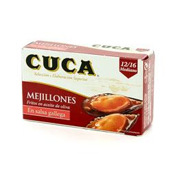 Mejillones en salsa Gallega Gallegos 120Gr 12/16 pzs CUCA