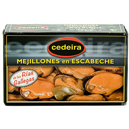 Mejillones estallados en escabeche de las rias gallegas lata