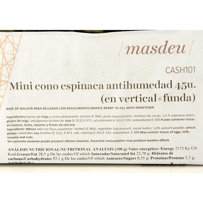 Mini Cono Espinaca Antihumedad 45Uds Masdeu