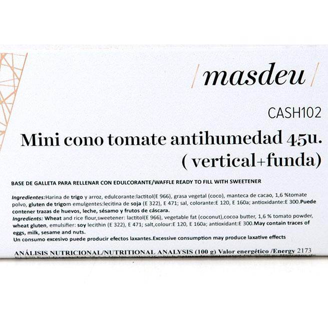 Mini Cono Tomate Antihumedad 45Uds Masdeu
