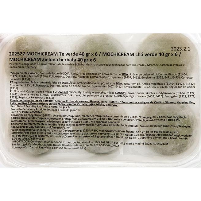 Mochi de te verde (6 bolitas de 40 Gr.)